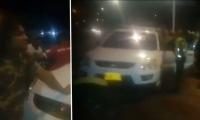 El conductor Jacobo de Jesús Castillo Teheran y el vehículo implicado.