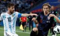 Lionel Messi y Luka Modric.