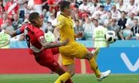 Acción del gol de Paolo Guerrero.