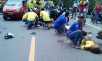 Accidente en caravana.
