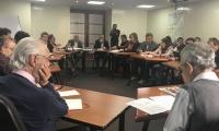 Reunión de líderes de la Farc con Comisión de la Verdad.