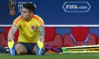 James Rodríguez entrena a parte.