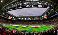 Panorámica del partido de octavos de final: Colombia vs Inglaterra.