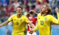 Emil Fosberg celebra el gol de la clasificación.