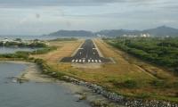 Pista del aeropuerto internacional 'Simón Bolívar' de Santa Marta.
