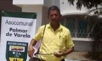 Luis Barrios Machado, presidente de Asocomunal de Palmar de Varela.