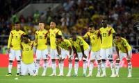 Jugadores de la Selección Colombia durante la tanda de penales ante Inglaterra.