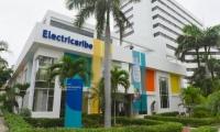 Fachada de Electricaribe en Barranquilla.
