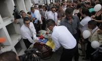 Óscar Villacís y Katty Velasco, fueron sepultados este domingo en Ecuador.