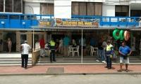 Operativo a establecimiento ubicado en El Rodadero.
