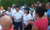 La gerente de la Essmar se reunió con la comunidad.