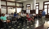 Aspecto de la reunión desarrollada en las instalaciones de la Gobernación del Magdalena.