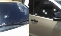 Así quedó la camioneta tras el ataque a bala del que fue víctima el director de la Dian en Maicao, Fabián Ferreira Alvarado.