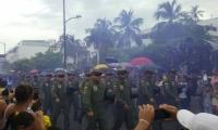 Aspecto del desfile del 20 de julio de 2017.