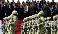 El presidente Juan Manuel Santos presidió por última vez el desfile militar del 20 de Julio.
