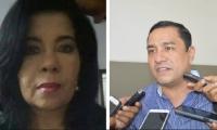 Ruth Escobar y Ricardo Montoya, delegados del registrador nacional en el Magdalena.