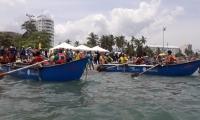 En la jornada realizaron canotaje y canoas artesanales.