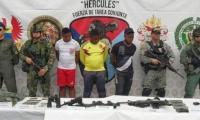 Tres capturados dejó el operativo conjunto entre la Policía y las Fuerzas Militares.