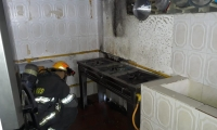 El incendio fue generado al parecer por una falla en la línea de transporte de gas natural.