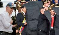 Juan Manuel Santos y Nicolás Maduro.