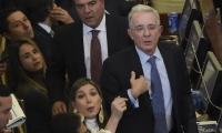 Álvaro Uribe y bancada del Centro Democrático.