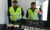 Instrumentos recuperados por la Policía.