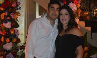 Los cumplimentados Luis Carlos Torres y Layla Katime Moreno.