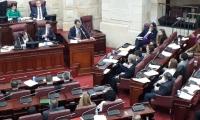 Sesión del Senado para la escogencia de los candidatos.
