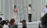Carlos Vives y Claudia Elena Vàsquez en su boda en Santa Marta.