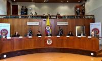Sesión de la Corte Constitucional.