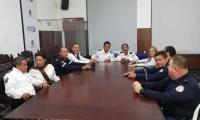Los delegados de los cuerpos de bomberos se quedaron esperando a la gobernadora Rosa Cotes.