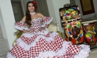 La Reina del Carnaval 2019, vestida de cumbiambera