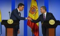 Presidente de Gobierno español y el Presidente de Colombia, Iván Duque.