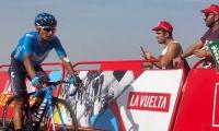 Nairo Quintana en la subida a la Covatilla.
