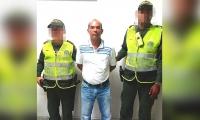 Elkin Alberto Witt Rodríguez, detenido por violencia intrafamiliar.