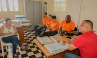 La reunión se llevó a cabo en las instalaciones de la alcaldía de Ciénaga.