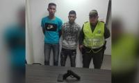 Presuntos delincuentes detenidos por la MeSan.