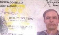Documento de identidad de José Manuel Morgado Bello, hombre asesinado.