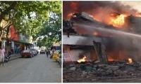 Calle 11 - Momentos del incendio de hace dos años.