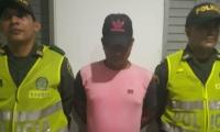 Hombre detenido en Don Jaca.