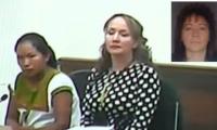 Joven indígena , su abogada y la mujer condenada.