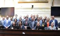 Aspecto de la bancada Caribe reunida en el Congreso de la República, la mañana de este jueves.