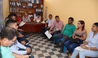 Aspecto del comité de gestión del riesgo del municipio de Ciénaga.
