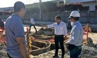 El alcalde de Santa Marta, Rafael Martínez realizó una inspección de la obra.