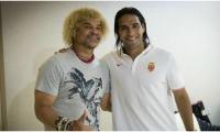 Falcao García y el 'Pibe' Valderrama
