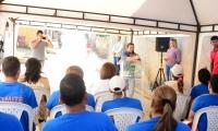 El alcalde Rafael Martínez dio inicio a la obra este viernes.