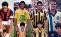 Radamel García King posó con su hijo Radamel Falcao García en varias etapas de su carrera.