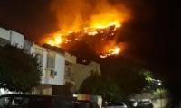 Los bomberos controlaron y liquidaron el incendio en el cerro de El Rodadero.
