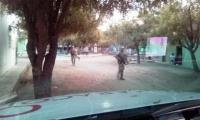 Así patrulla el Ejército la zona.