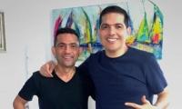 Dos músicos con trayectoria y renombre en el género del vallenato.